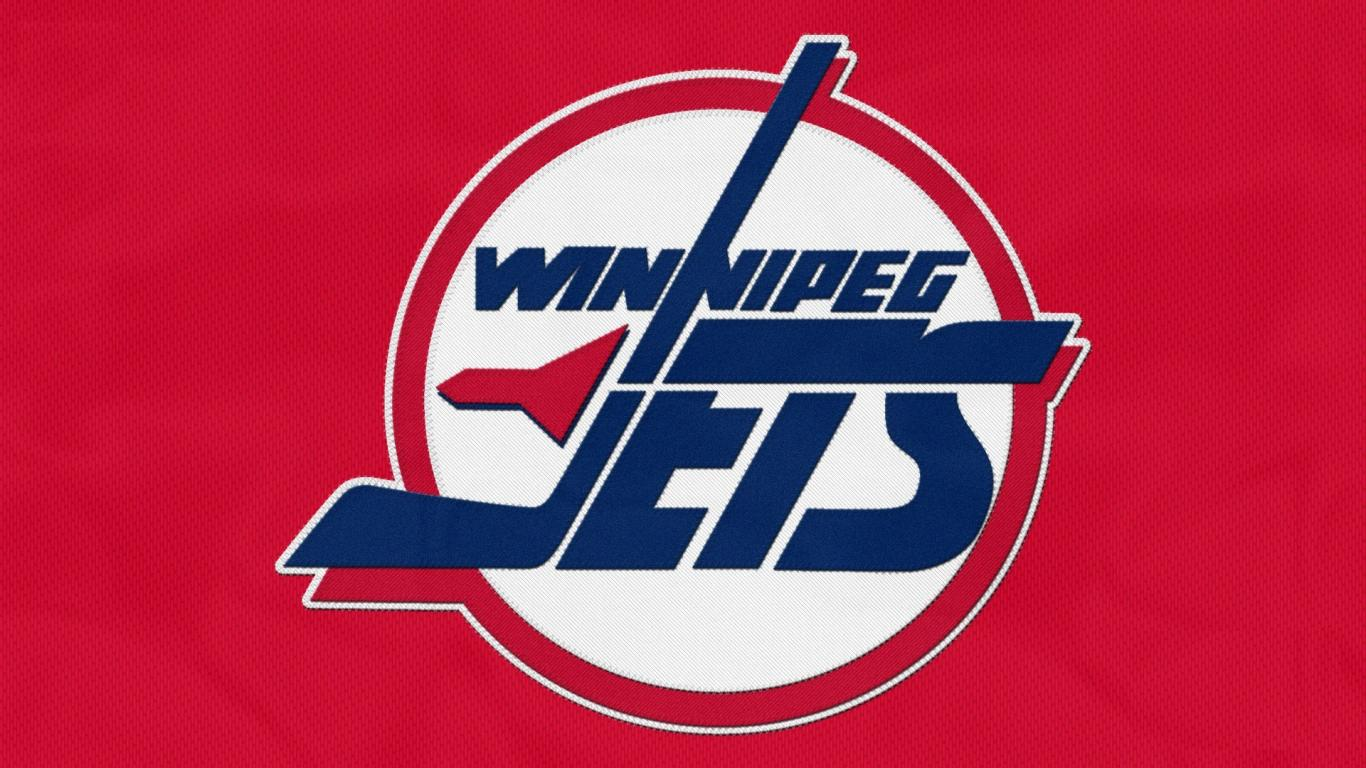 Red sports hockey nhl ice logos winnipeg jets wallpaper 77645 1366x768