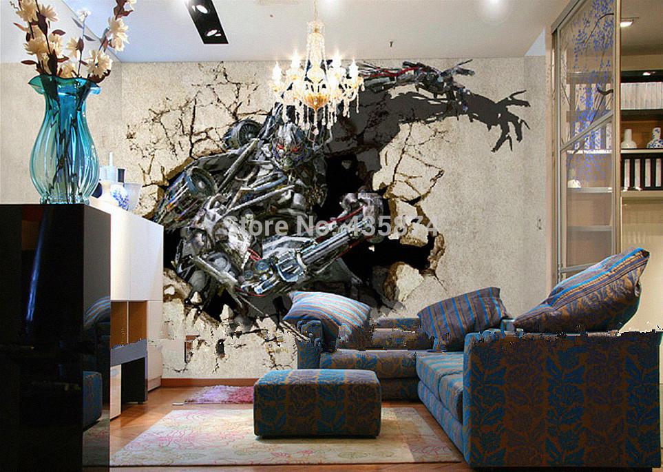 Crazy 3D wallpaper Abstract art modern canvas Large mural wallpaper 963x685