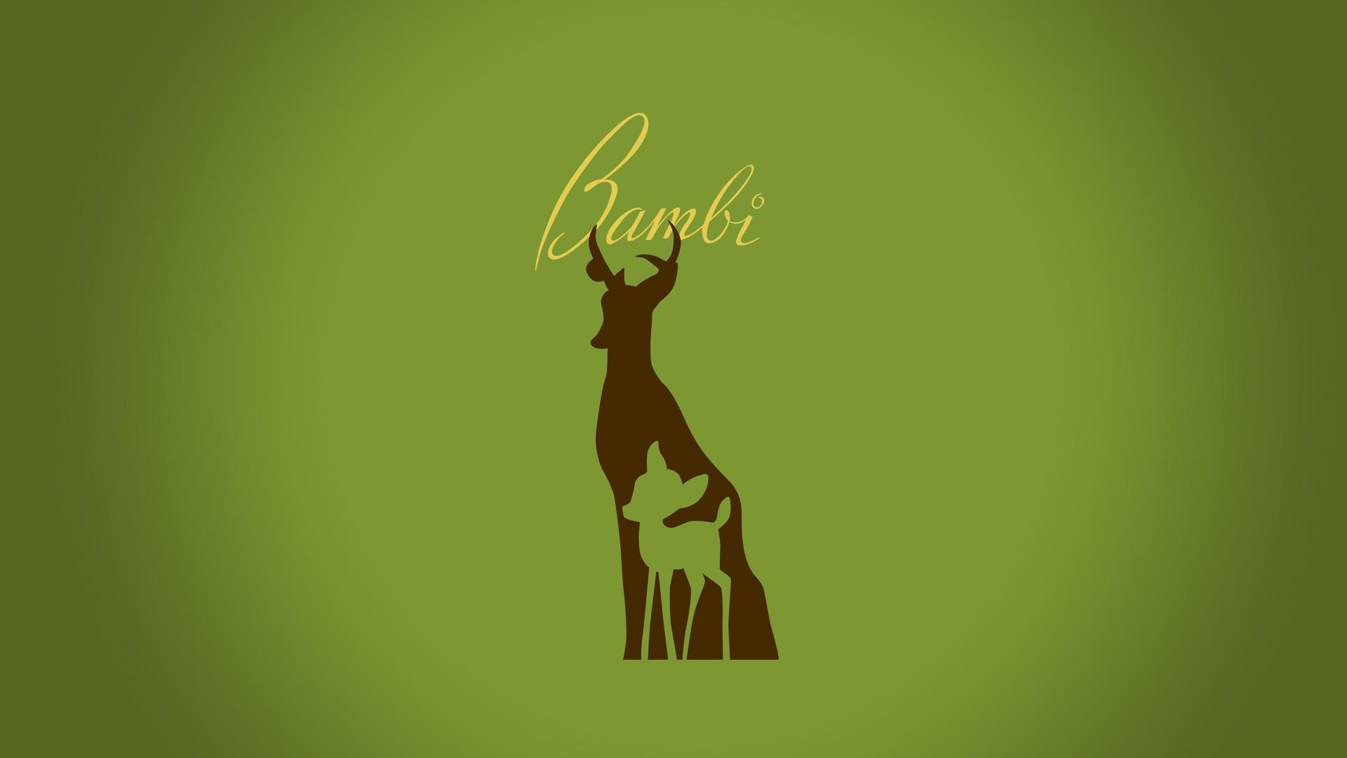 Minimalistic Bambi hd wallpaper background 1920x1080