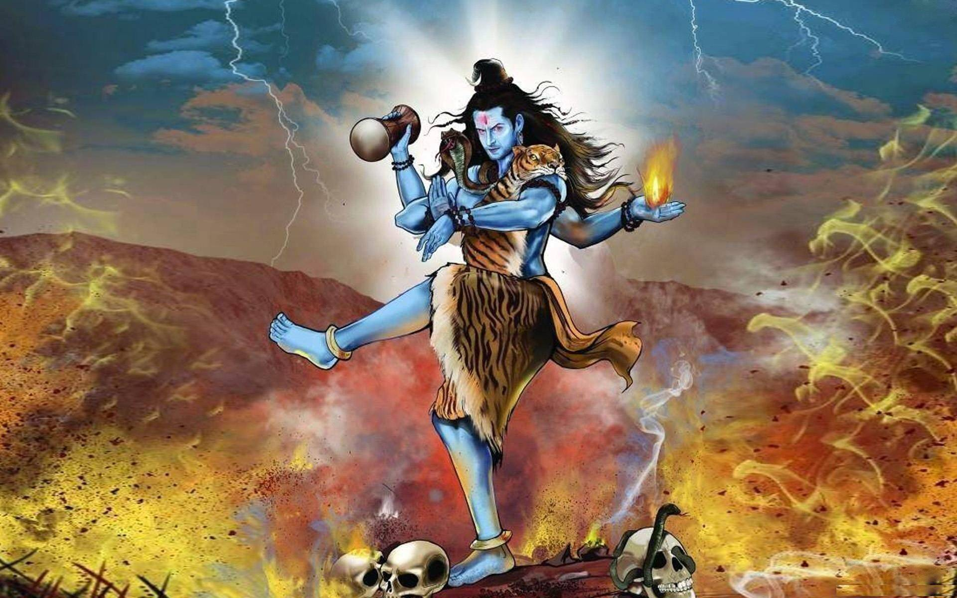 Angry Lord Shiva Tandav Desktop Image HD Wide HD Wallpapers 1920x1200