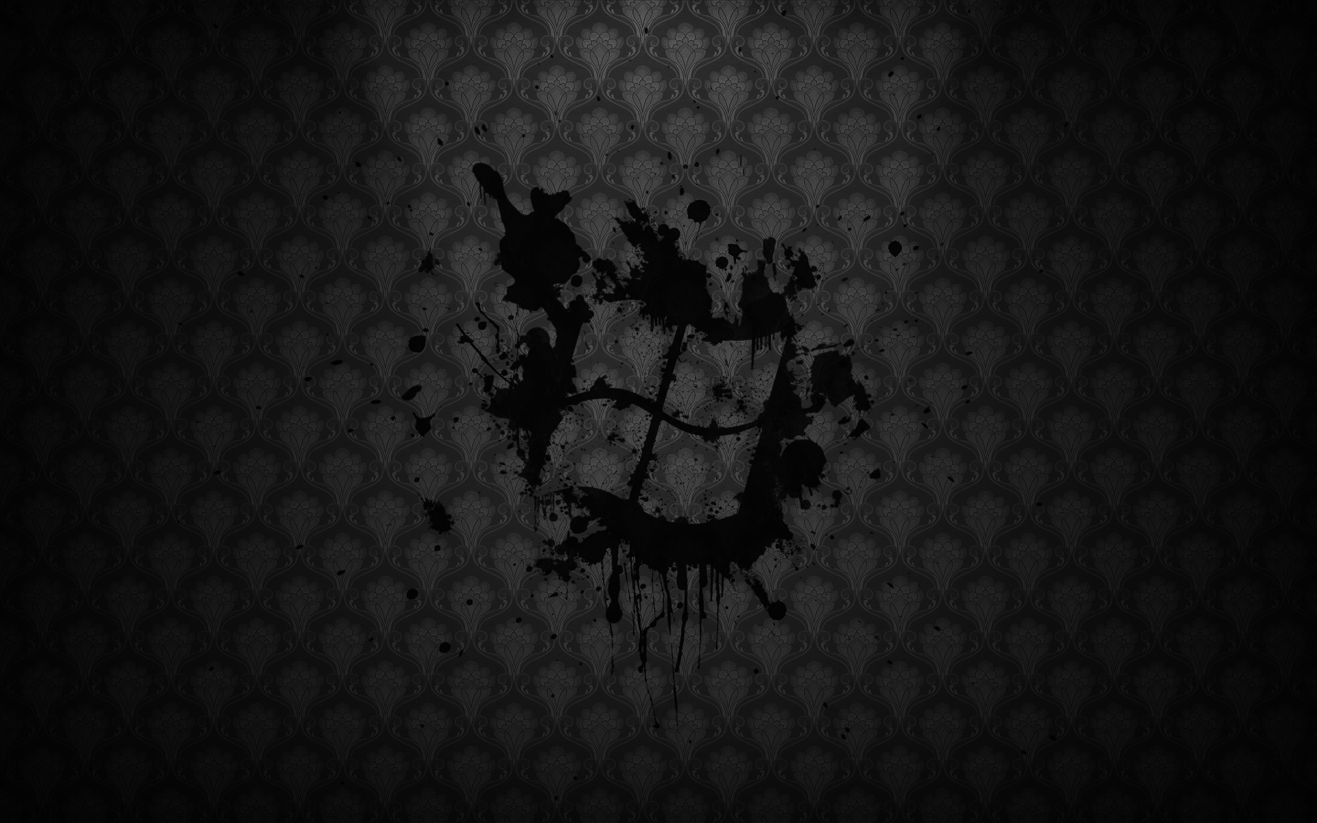 Black windows - Wallpaper Windows Splatter Vista 1920x1200
