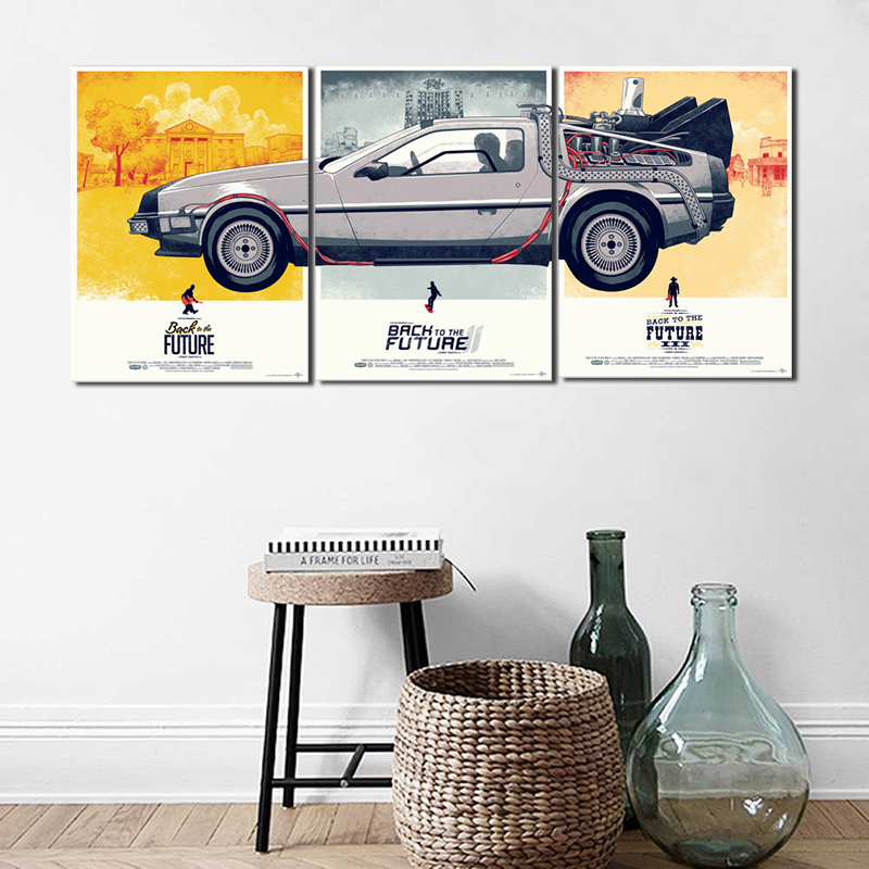 Back Future Classical Movie Anime Wallpaper Art Canvas Poster 800x800
