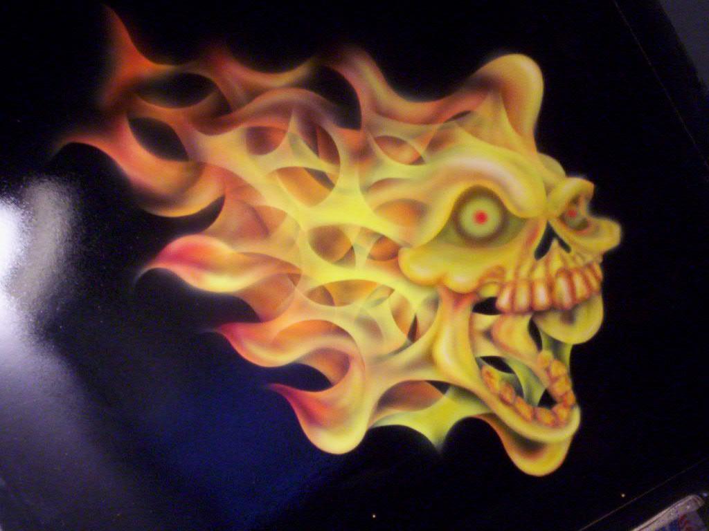 flaming skull 1024x768