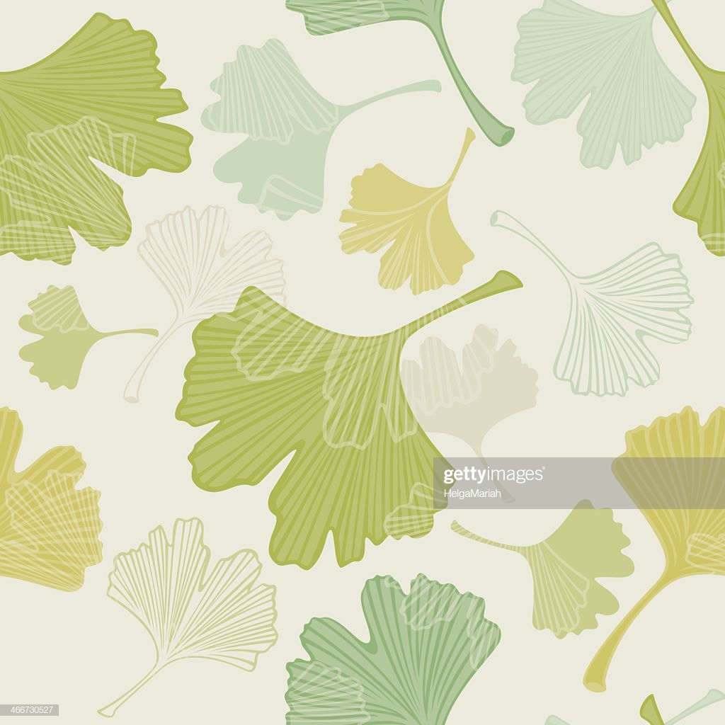 Seamless Ginkgo Leaves Background High Res Vector Graphic   Getty 1024x1024