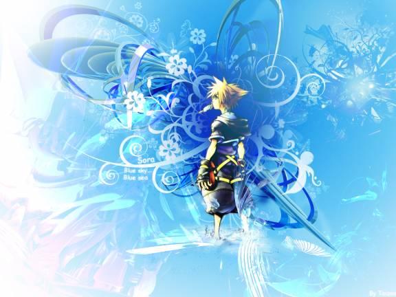 Anime Sky Blue Wallpaper photo largeAnimePaperwallpapers Kingdom Hjpg 576x432