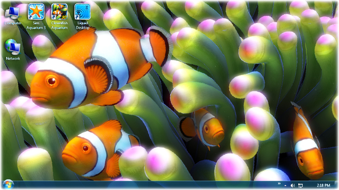 windows 7 desktop live fish wallpaper download 700x393