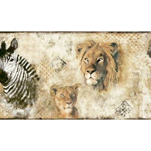 Wild Kingdomn Jungle Animals Wallpaper Border Home 500x500