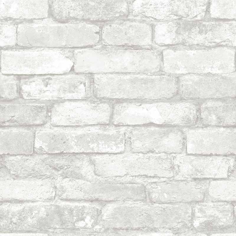 Grey and White Brick Peel And Stick NuWallpaper   RosenberryRoomscom 800x800