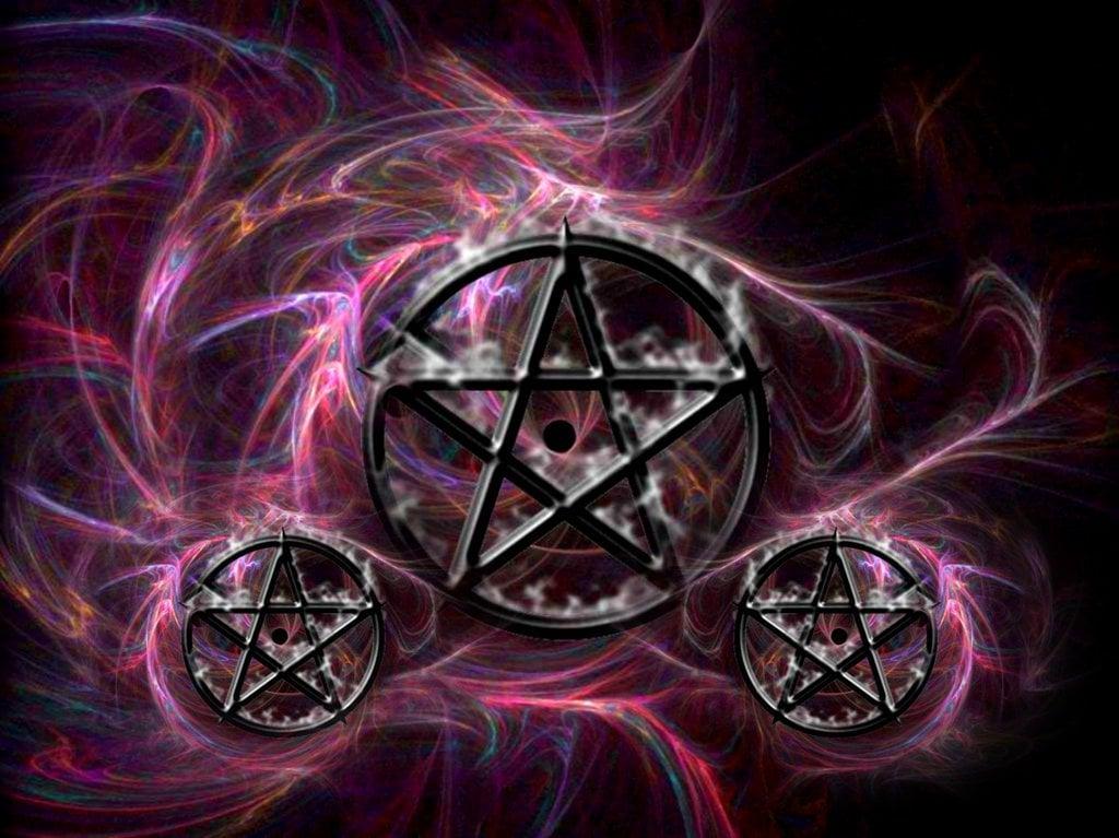 wiccan pentagram wallpaper wallpapersafari