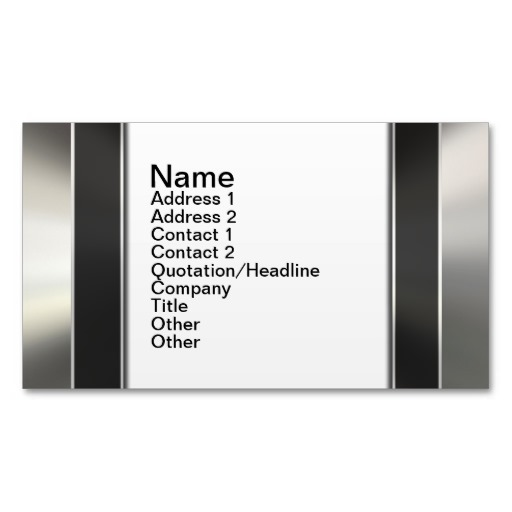 silver and black borders on white business cards 512x512