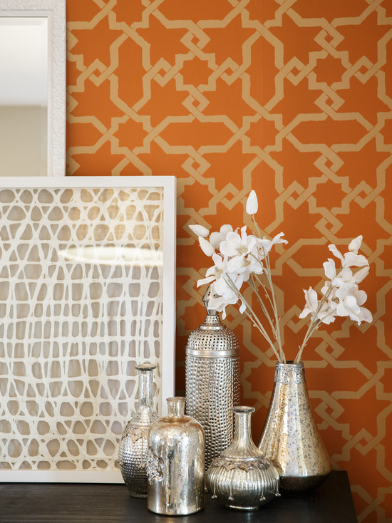 Trellis Wallpaper Geometric Pattern Home Design Interior Design 550x734