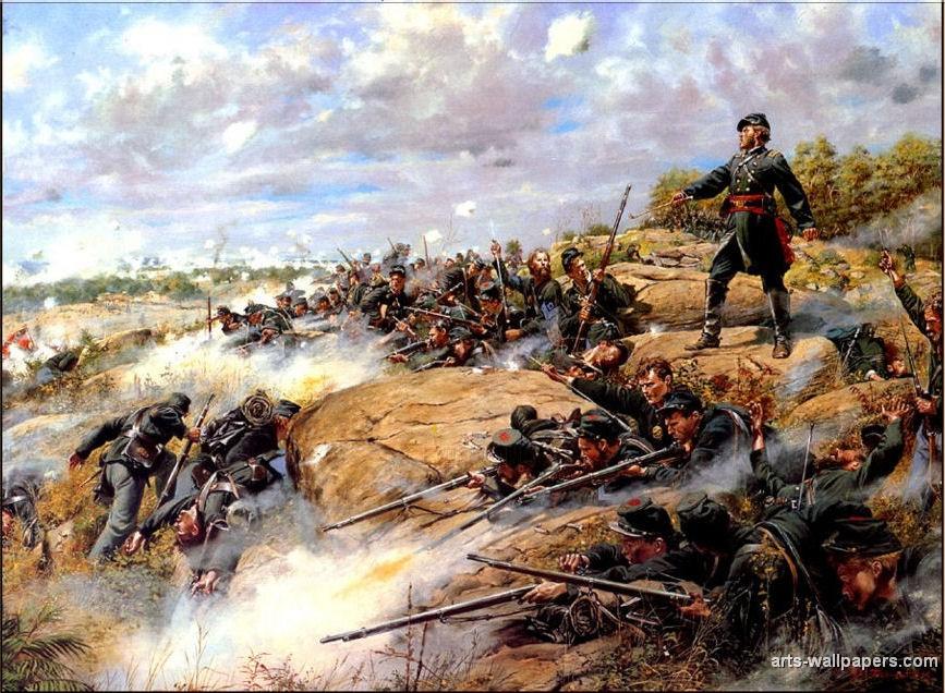 American Civil War Paintings Art Prints Gallery Pictures Artworks 867x636