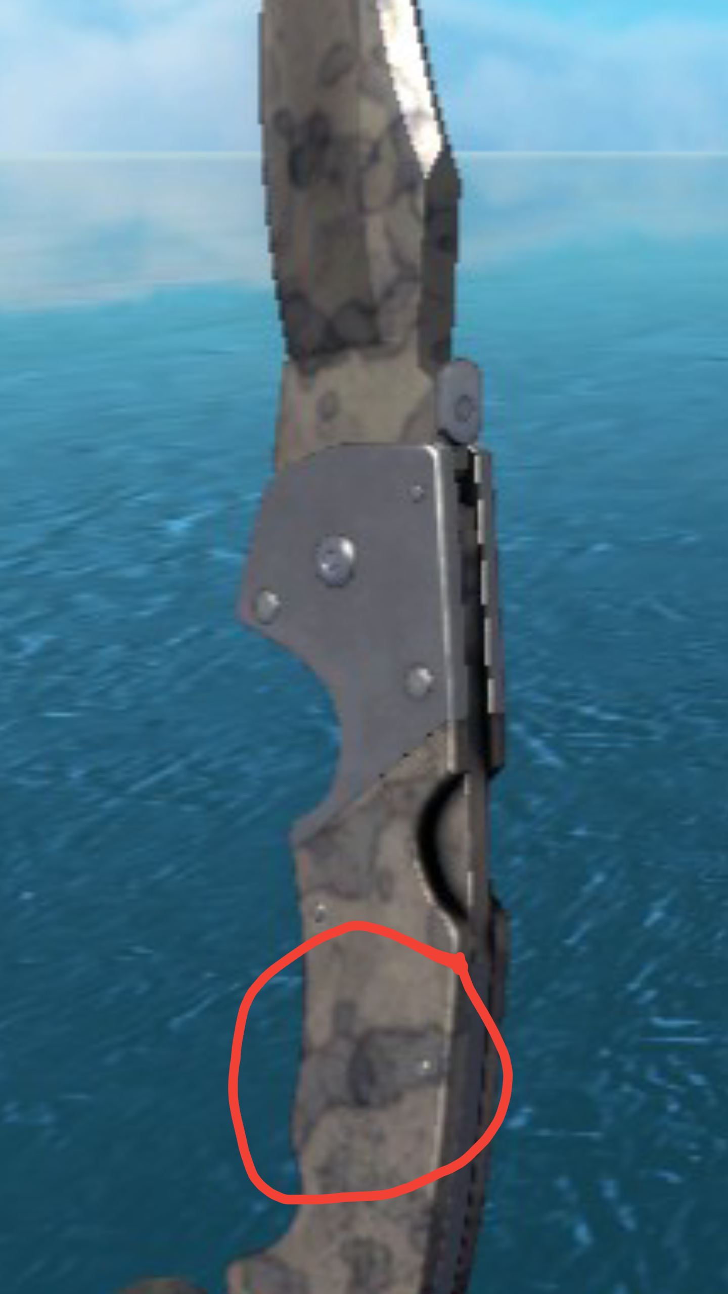 I just noticed there was a Gnome on my Falchion stained knife 1440x2560