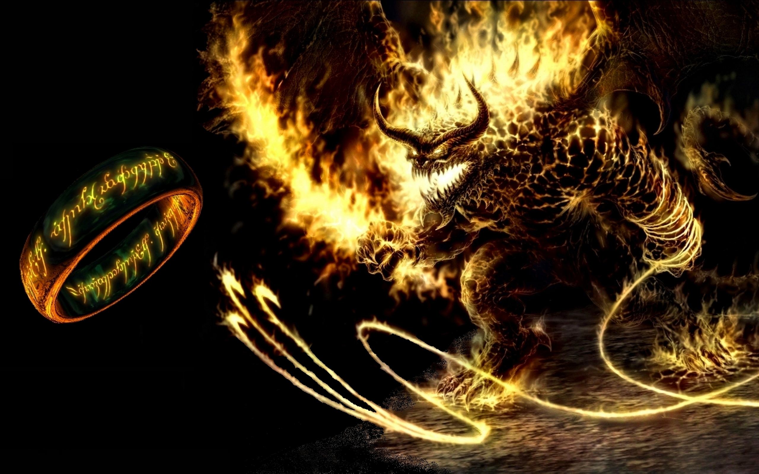 Balrog   Lord of the Rings Wallpaper 4801031 2560x1600