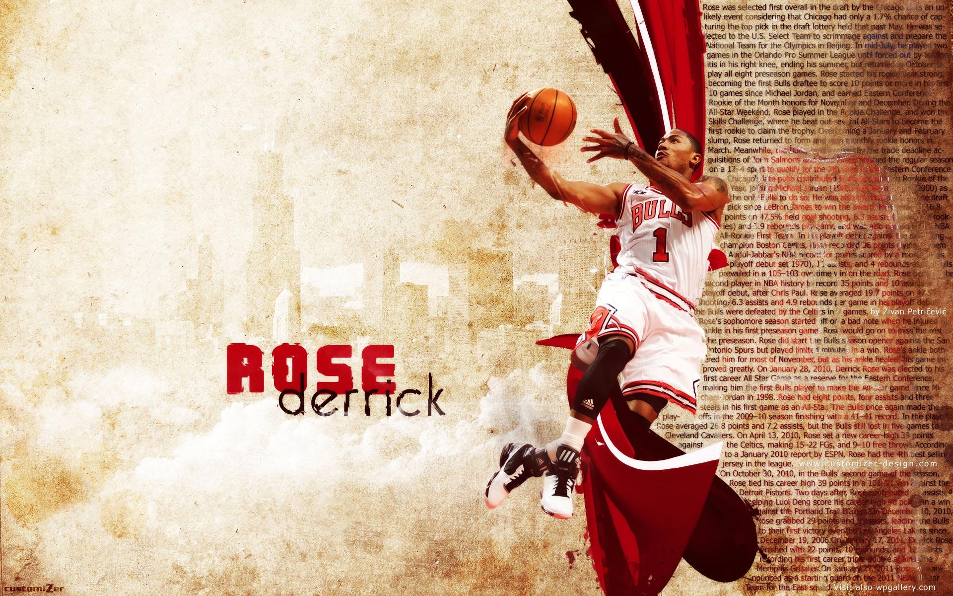 derrick rose 2011 widescreen photo 1920x1200