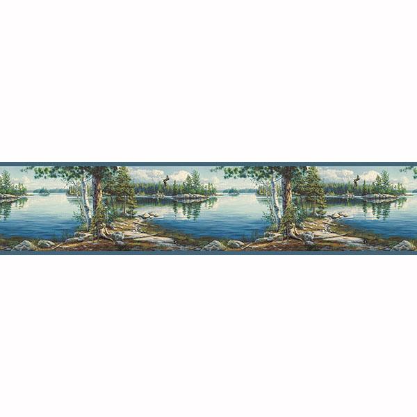 Echo Lake Border   Caddo   ECHO LAKE LODGE Wallpaper by Chesapeake 600x600