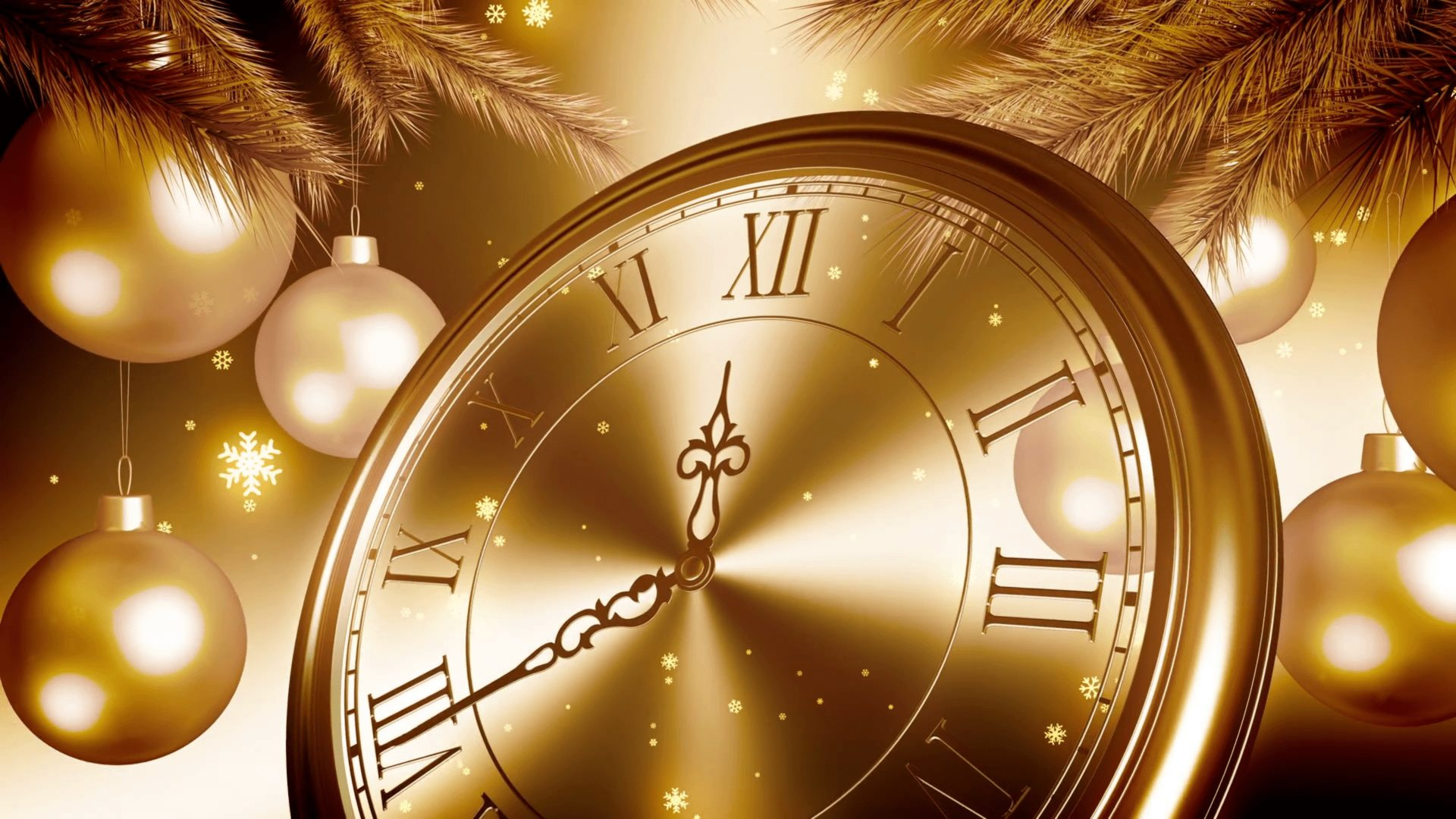 Happy New Year 2020 Golden Clock Countdown In New Years Eve 1920x1080