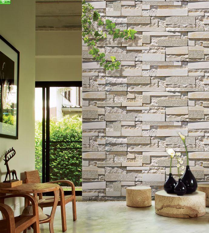 3D Cultured Stone Wallpaper 690x768