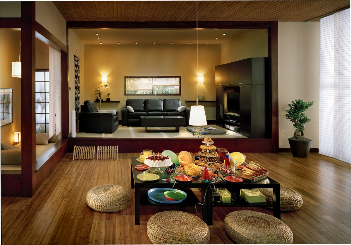 Japanese Style Living Room Design   Home Design Picture 1200x837