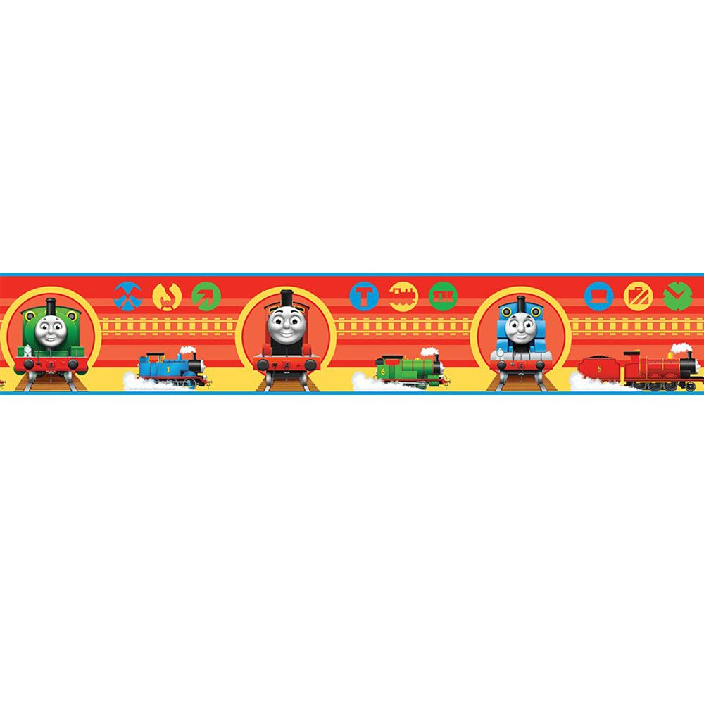 Thomas the Tank Engine And Friends Childrens Kids Wallpaper Border 1000x1000
