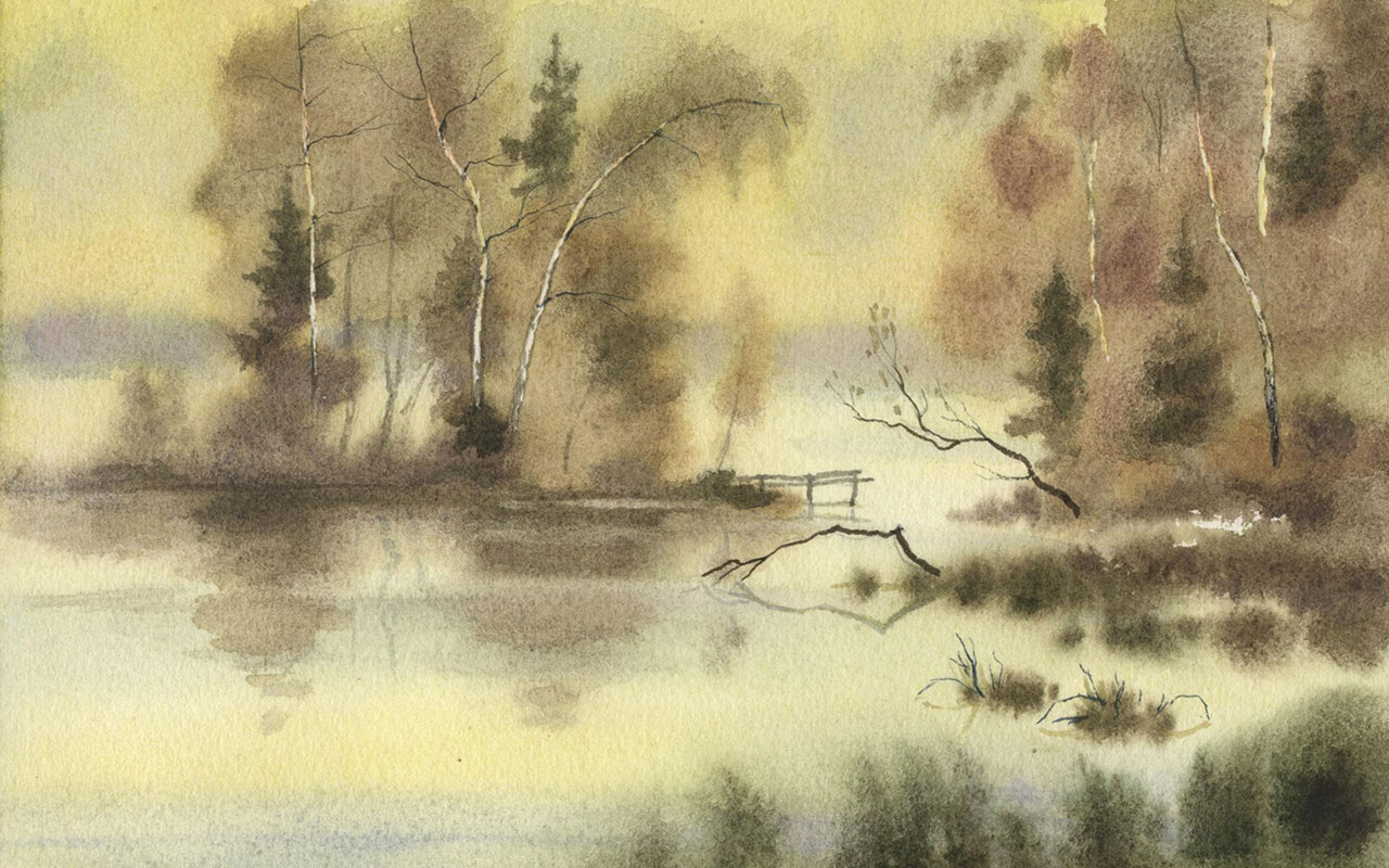 Chinese style landscapes ink wallpaper 2 Paintings Wallpapers 1280x800