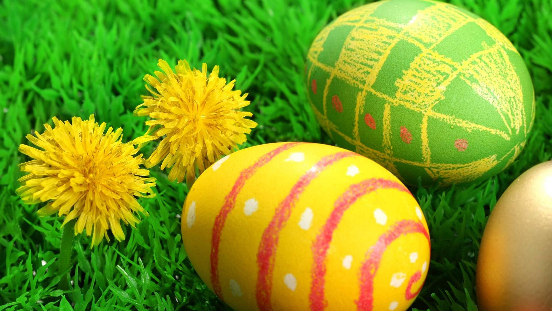 Easter Eggs 2013 HD Wallpaper of Greeting 1920x1080