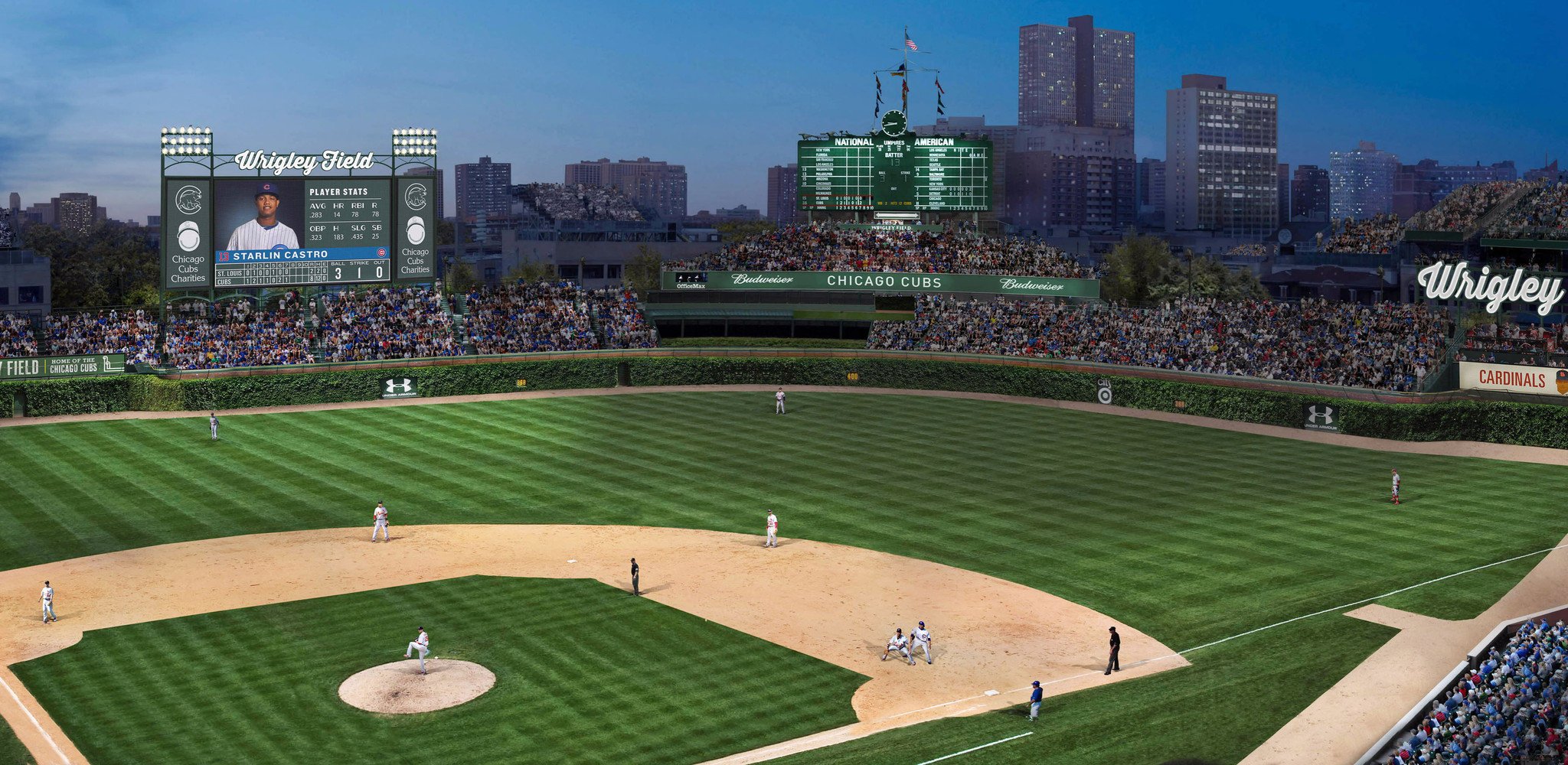 Wrigley field wall mural image collections home wall decoration wrigley field wall mural wall murals ideas baseball field wallpaper wallpapersafari amipublicfo image collections amipublicfo Gallery