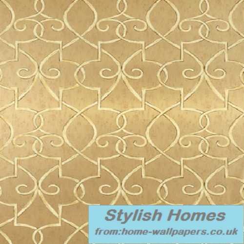 Thibaut Designer WallpaperGeometric Resource Grayden Metallic Gold 500x500