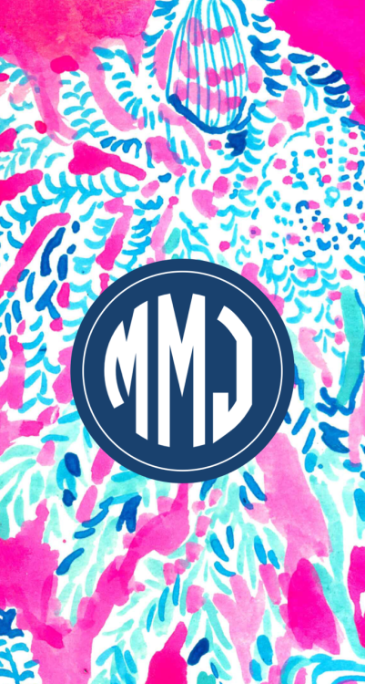 preppy monogram wallpaper