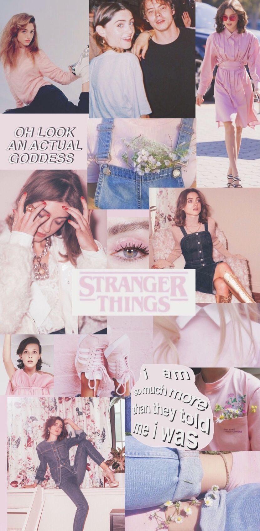 pink wallpaper Stranger things aesthetic Bobby brown stranger 830x1693