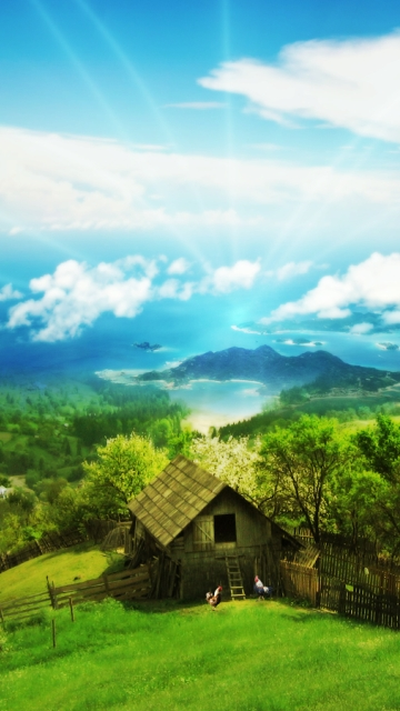 Nature House For Windows Lenovo Mobile Wallpapers 360x640 Hd Wallpaper 360x640