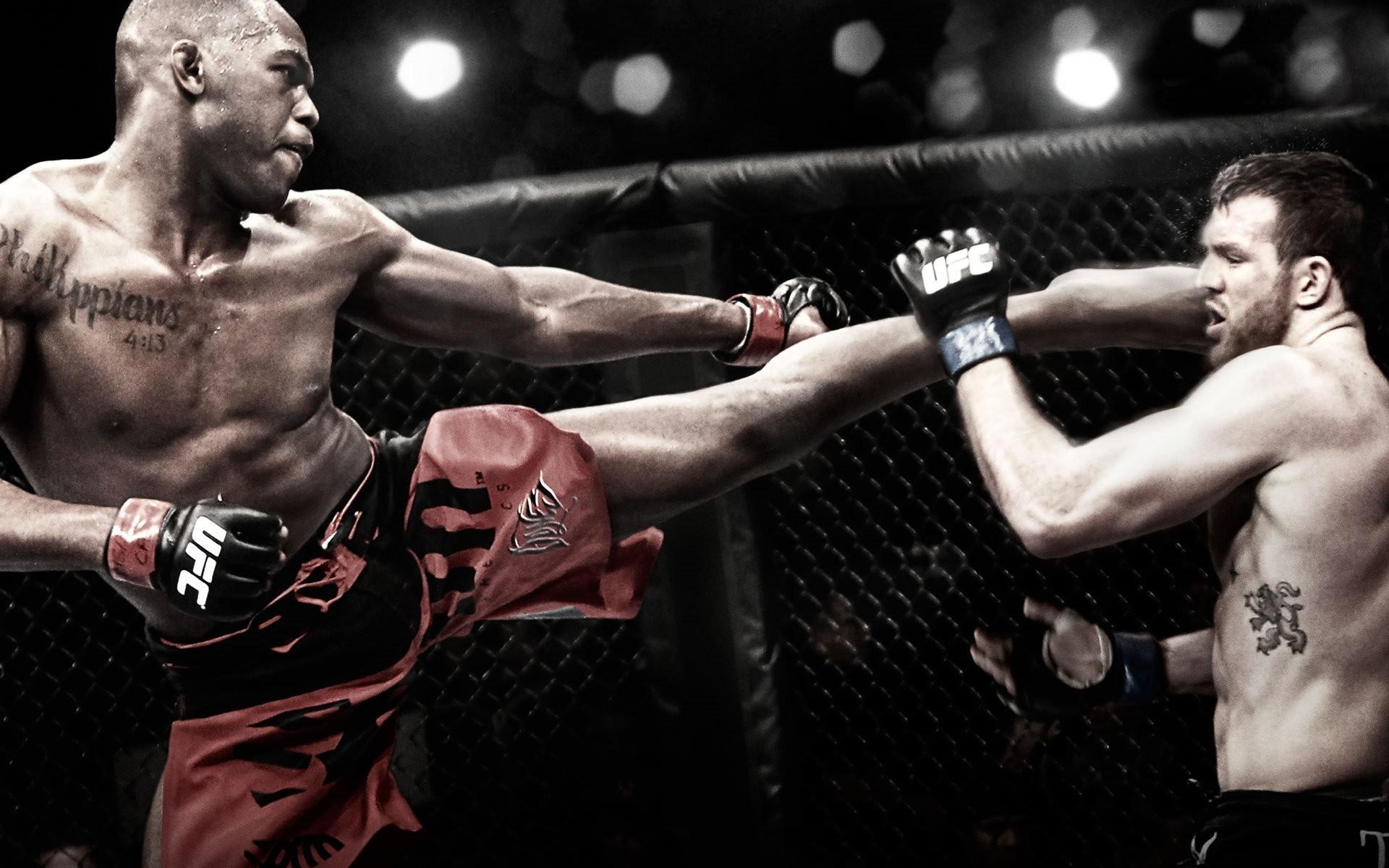 fight MMA UFC Jon Jones Ryan Bader fighters Wallpapers 1920x1200