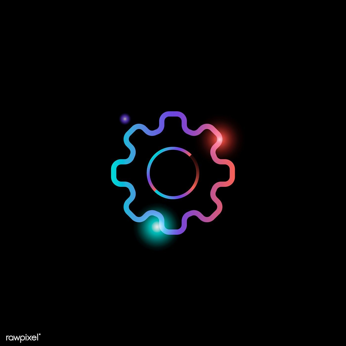 Download premium vector of Setting gear social media icon vector 1400x1400