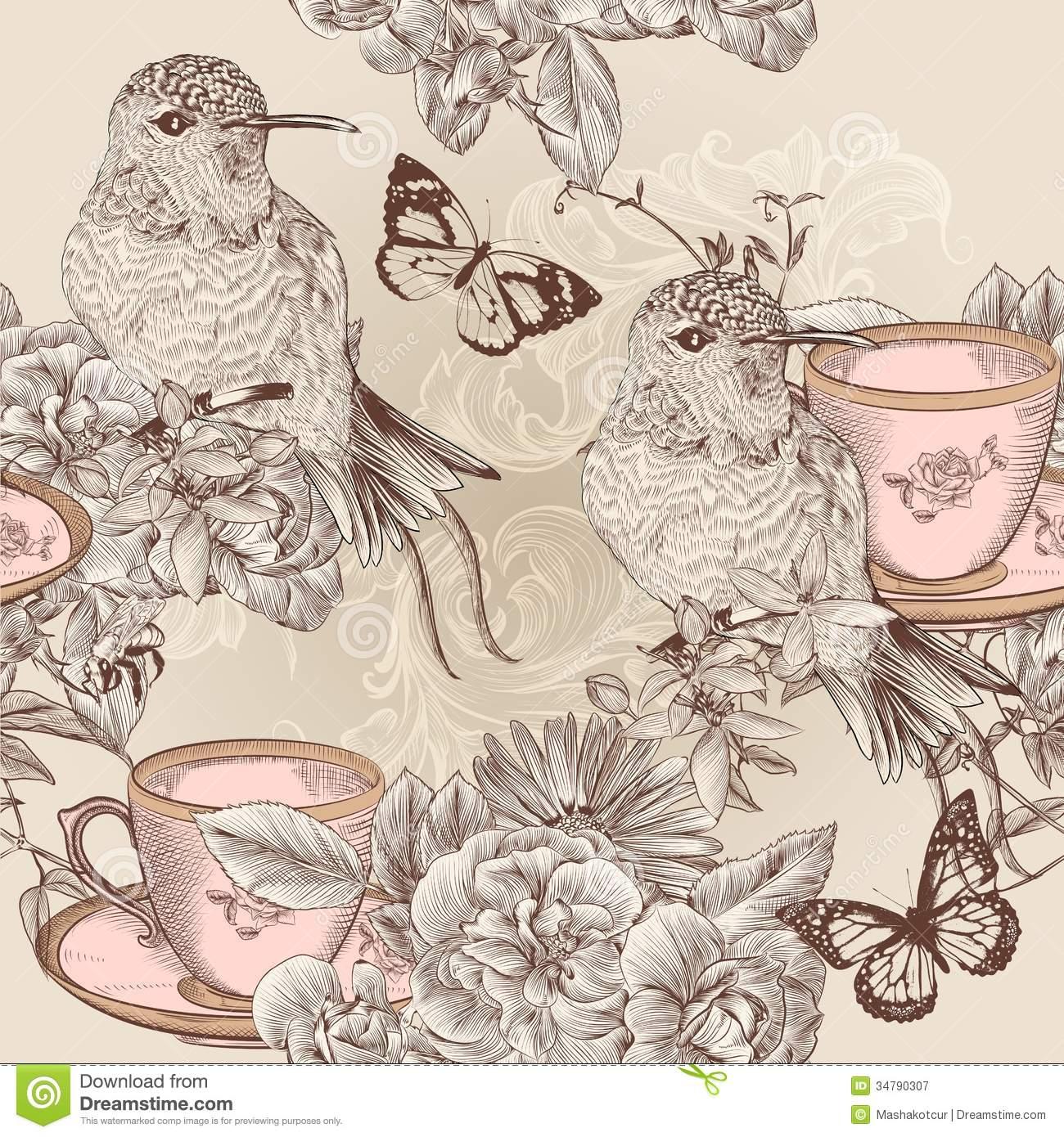 Back Gallery For vintage bird wallpaper 1300x1390