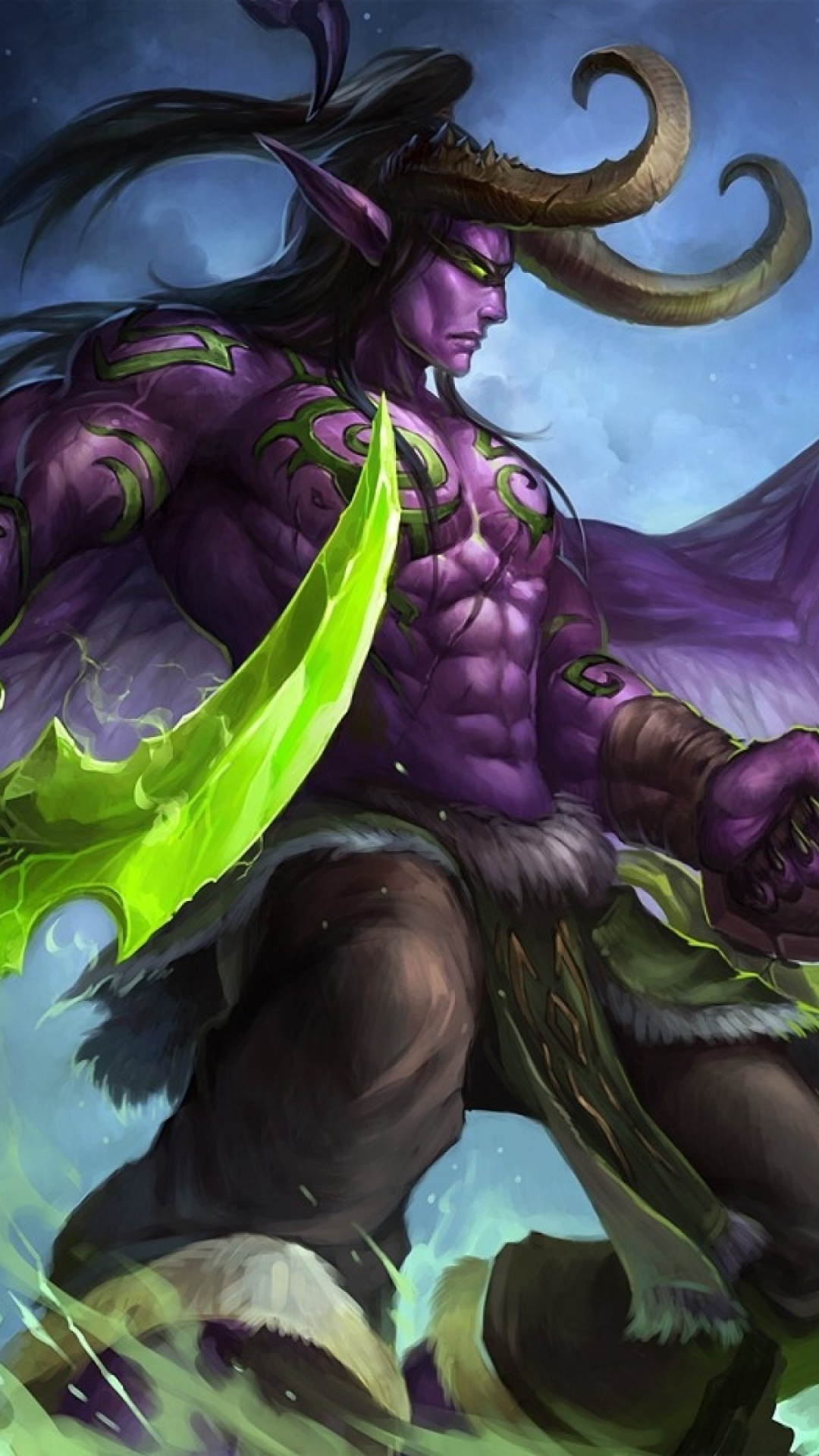 Stormrage Game Character World Of Warcraft Wallpaper WallpapersByte 1080x1920