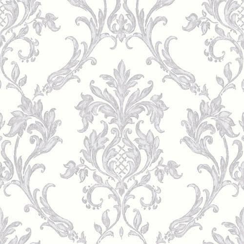 Grey Silver Glitter   M0733   Rafaele Damask   Vymura Wallpaper 500x500