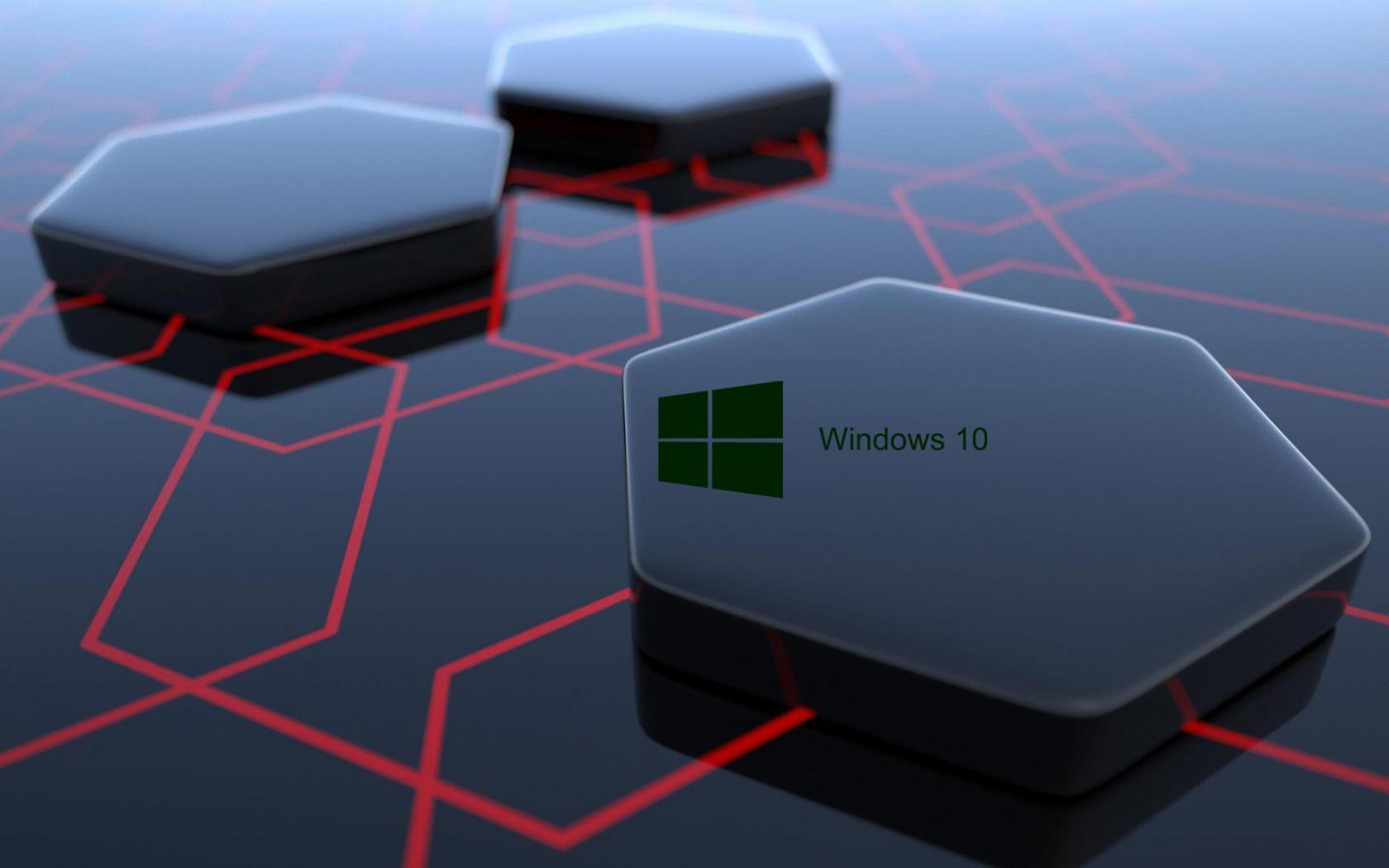 Windows 10 Desktop Image with 3d Art Black Hexagonal Wallpapers   HD ...