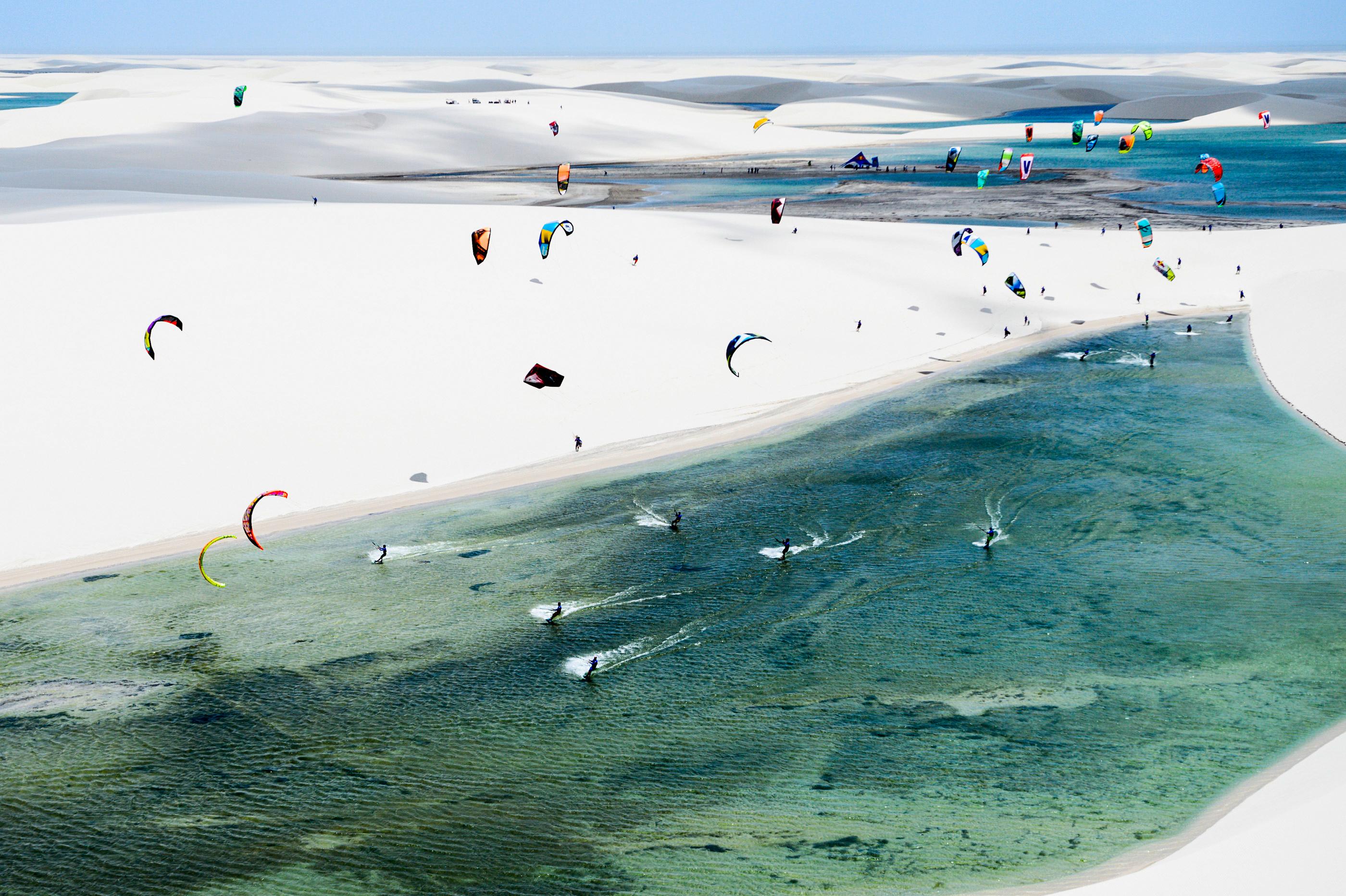 Freeride kitesurfing wallpaper Red Bull Rally dos Ventos in Brazil 2800x1864