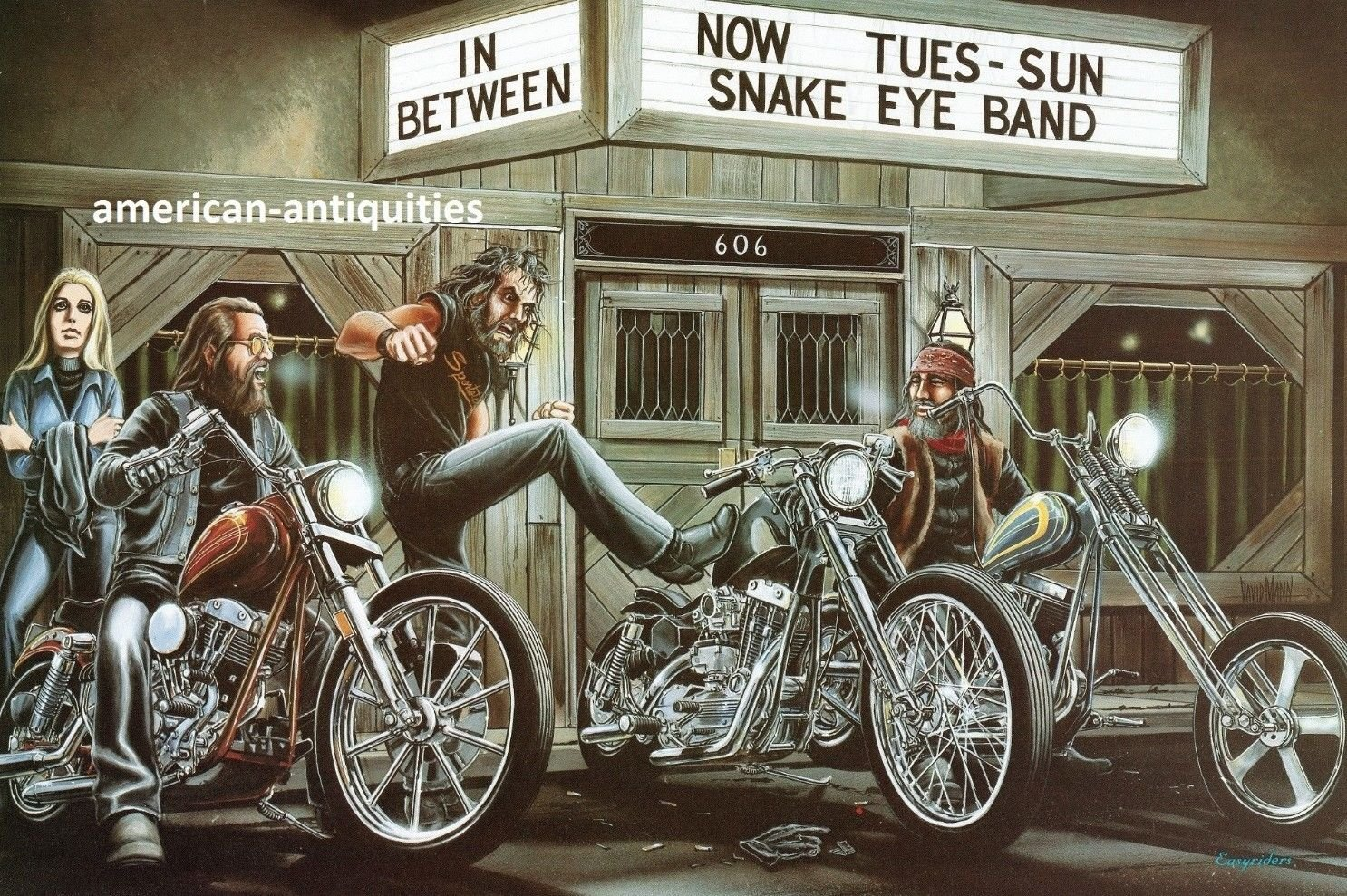 David Mann Motorcycle Art Wallpaper 1486x989