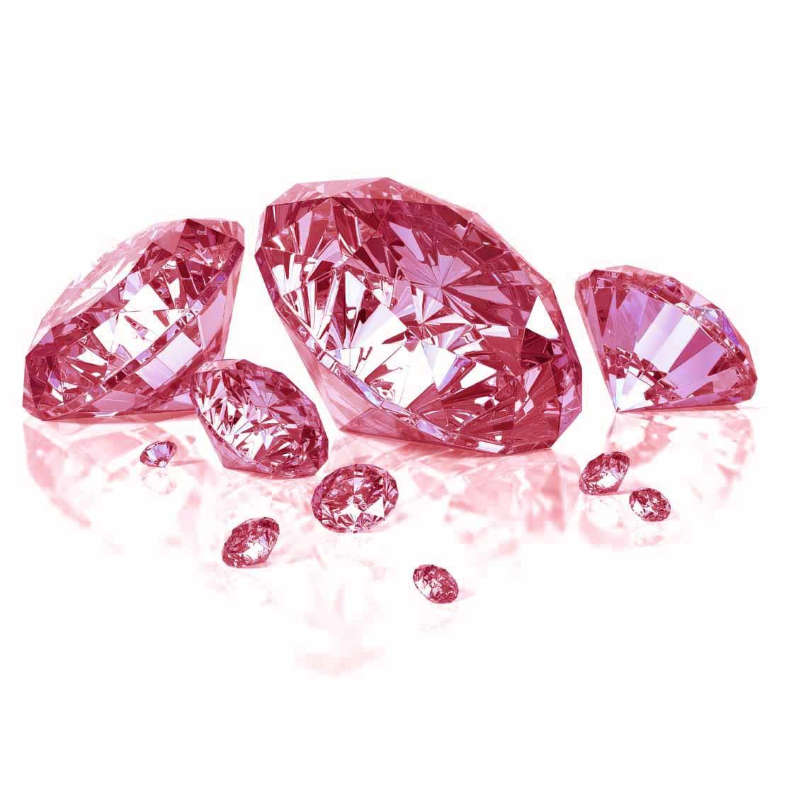 Wollpepar Diamond: Pink Diamond Wallpaper