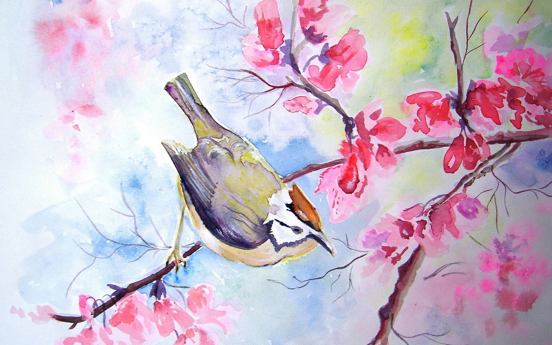 flower painting watercolor wallpaper - photo #36