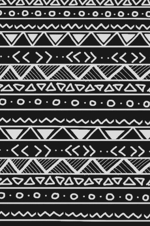 Black and White Aztec Wallpapers Pinterest Black 640x960