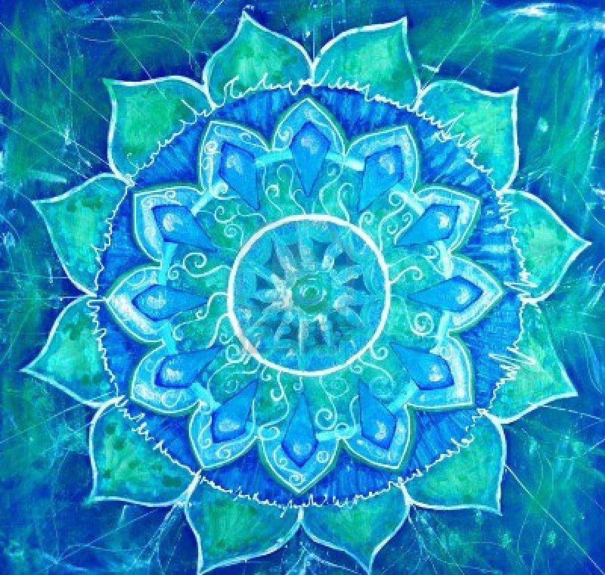 blue painted picture with circle pattern mandala of vishuddha chakra 1200x1140