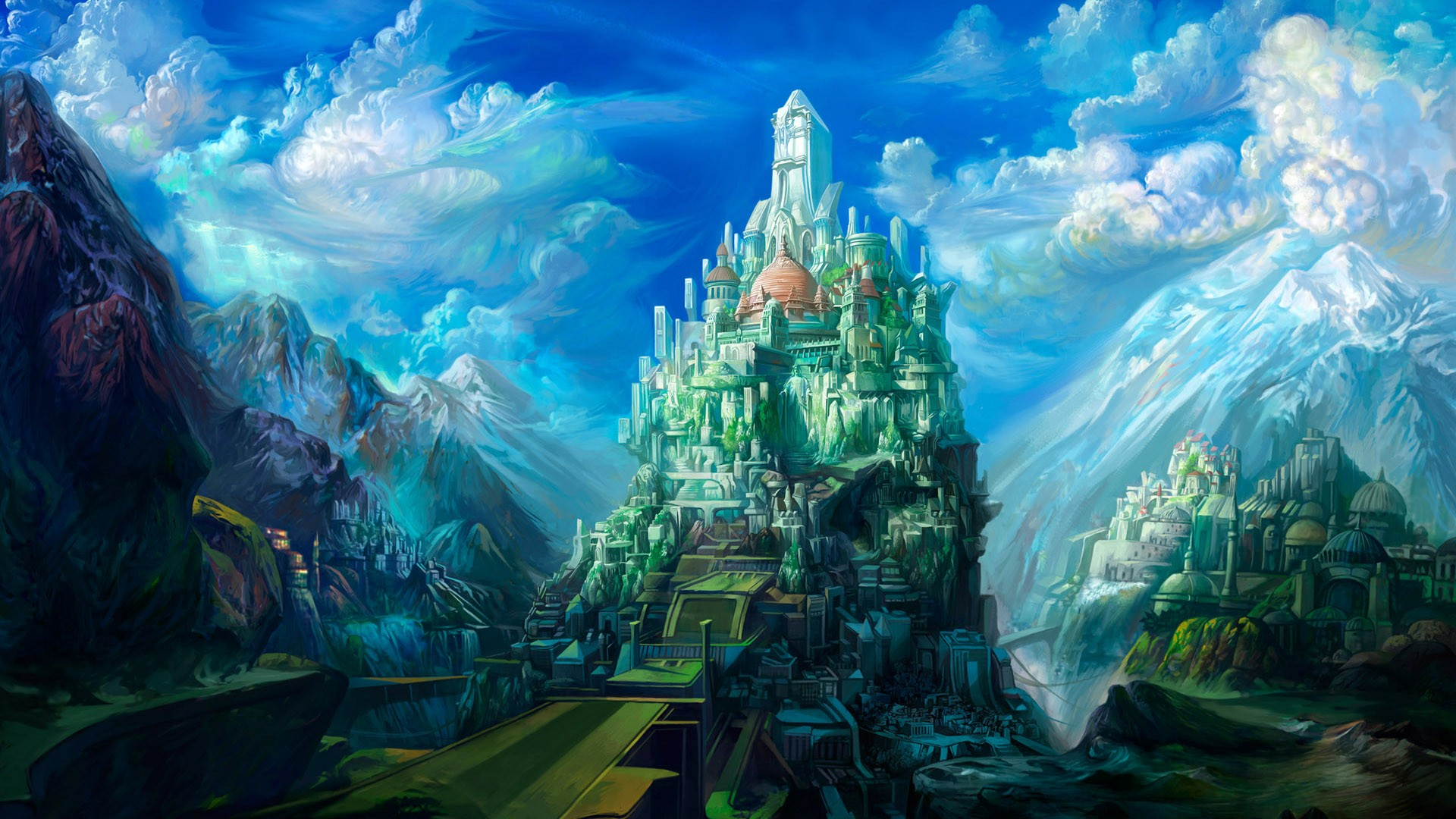 3d Art Castle Cool New Images Widescreen High Definition Amazing 1920x1080