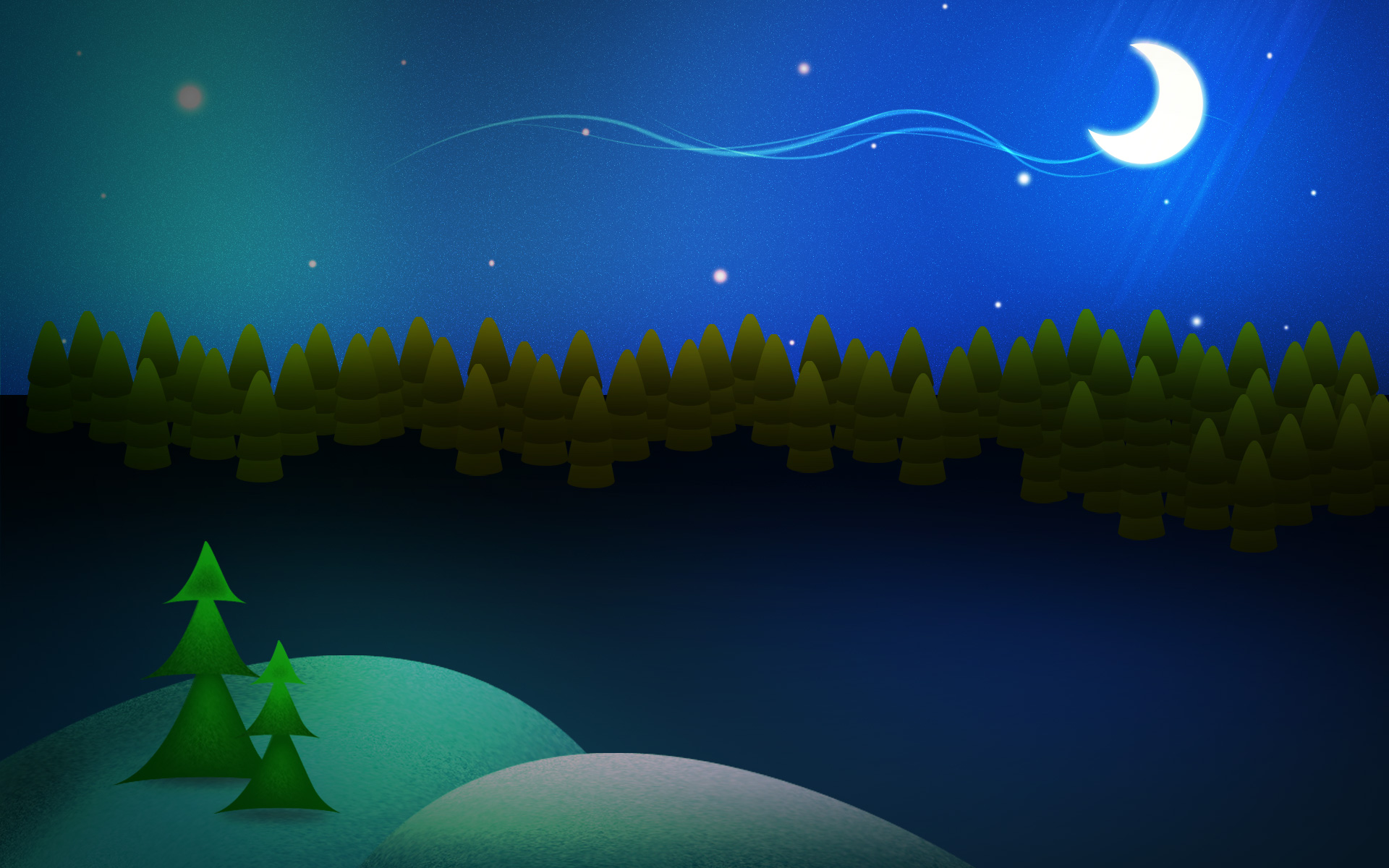 Night Before Christmas Photoshop Tutorial And WallPaper 1920x1200