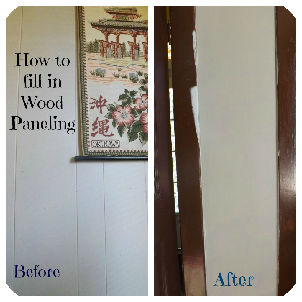 Confessions of an ADD Housewife How to fill in Wood Paneling 1024x1024