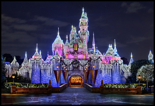 Beauty Castle   Disneyland Christmas 2011 Flickr   Photo Sharing 500x341