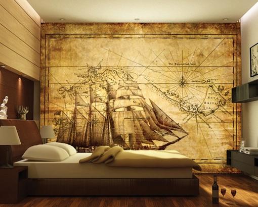 Antique sailor map wallpaper 510x410