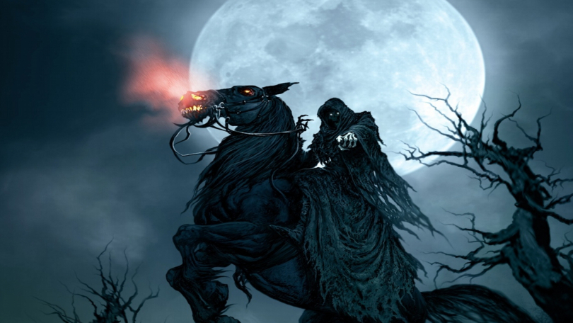 Grim Reaper On Horse Desktop Wallpaper Hd Resolution 810x456