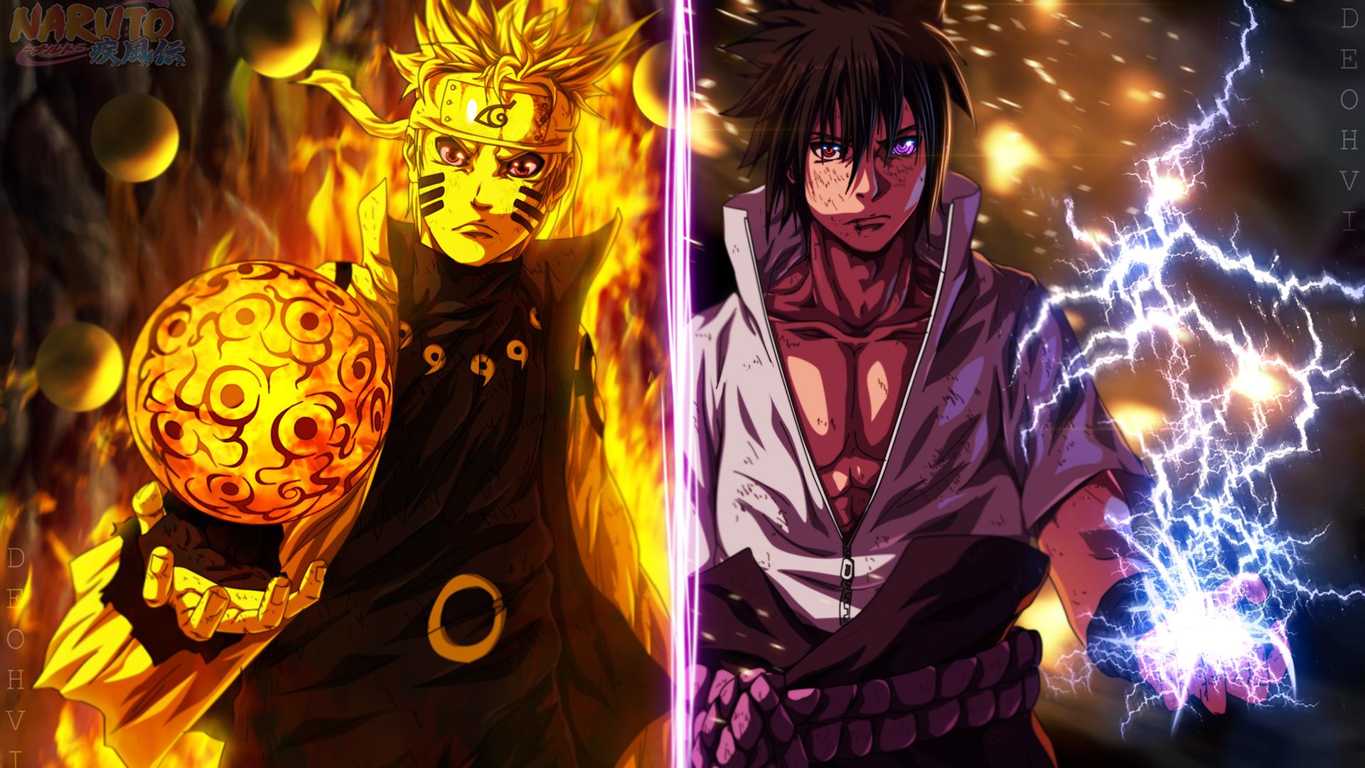 Naruto and Sasuke Wallpaper HD 1920x1080